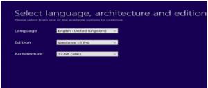 Choose Windows 10 Version