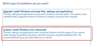 Custom Install Window
