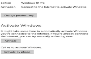Confirm windows 10 activated